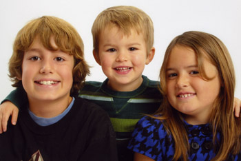 Nick, Jack and Maddie, February 2009