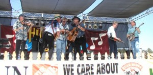 At Huck Finn's Jubilee with special guest Ron Block (of Alison Krauss' band) on banjo