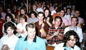 Me (in the plaid shirt). Don Goehner on the right, Sam McCreery in front (blue shirt).