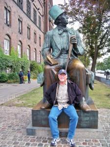 Me with Hans Christian Andersen, Copenhagen