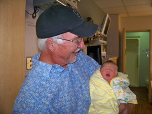 Layla and proud grandpa!