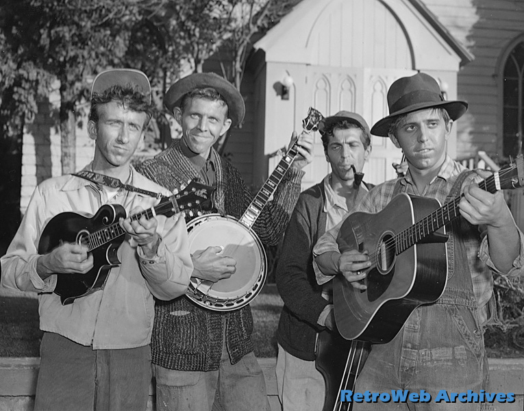 The Dillards as the Darlin's. Mitch is 3rd from the left.
